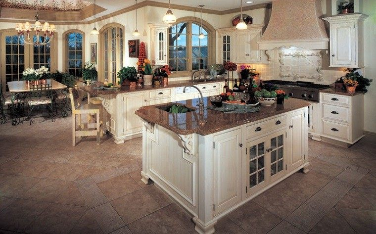Cocinas r sticas con un toque muy art stico for Cocinas rusticas blancas