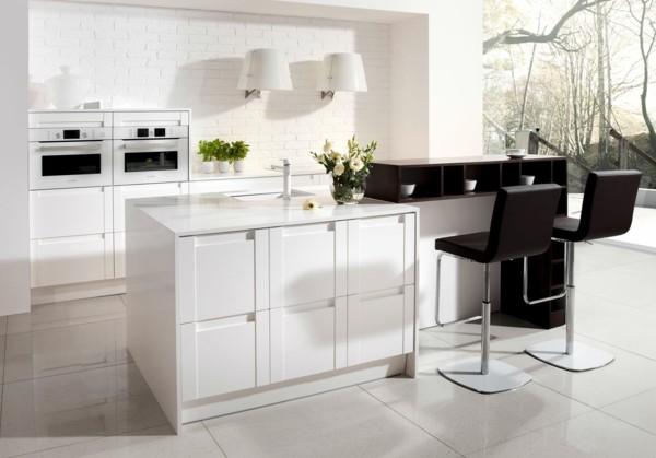 cocina color blanco negro