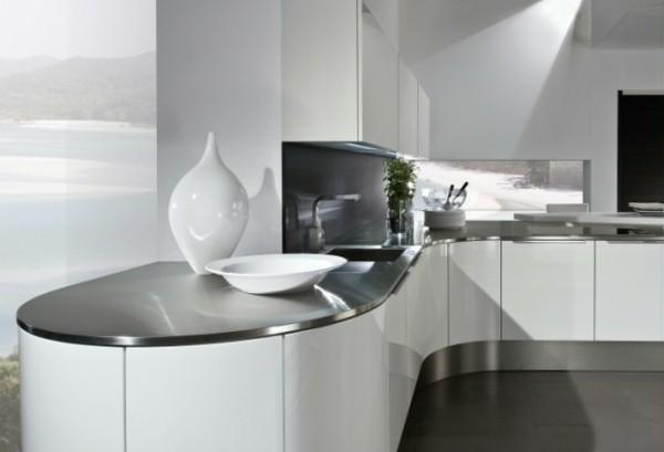 cocina laminado blanco acero