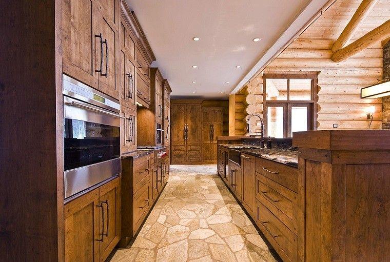 cocina madera estilo rustico moderna