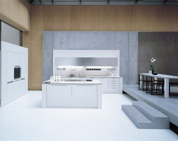 cocina minimalista blanca moderna