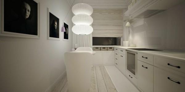 cocina moderna blanca fotos pared