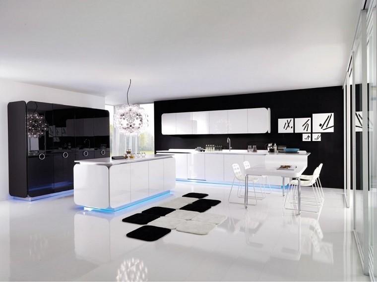 cocina moderna brillante superficie pulida
