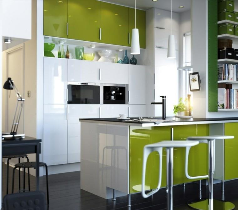 cocina moderna colores lampara color