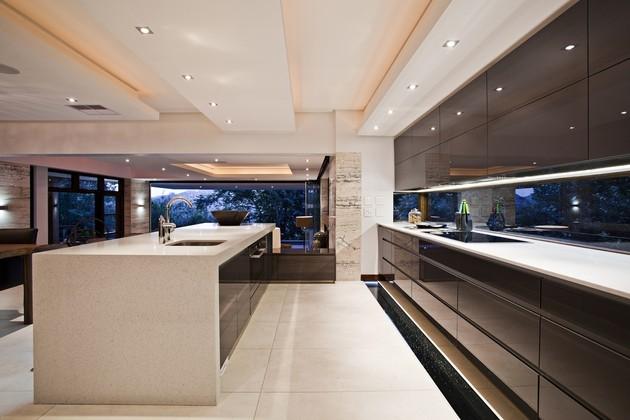 cocina moderna estilo oriental marmol