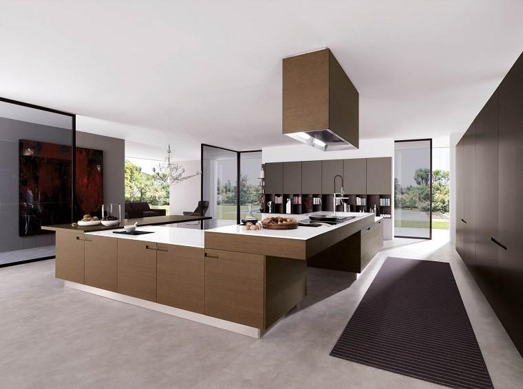 cocina moderna mobiliario marron diseño