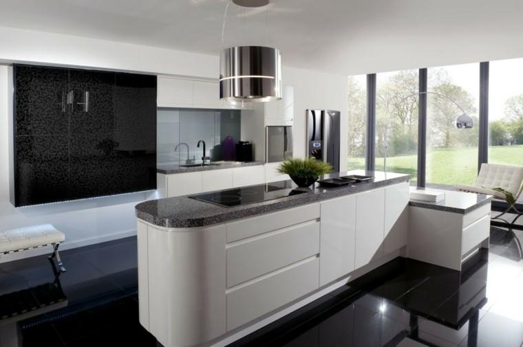 cocina moderna negro contraste minimalista