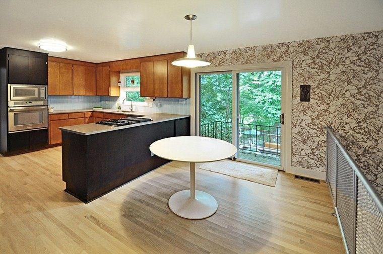 cocina moderna papel pared pintado