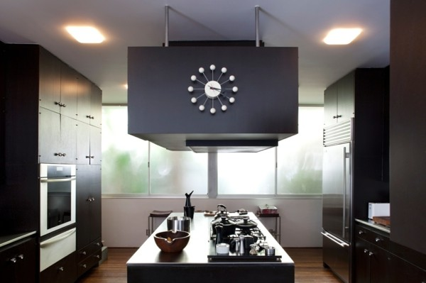 cocina moderna reloj diseño grande