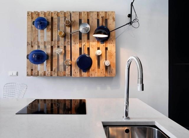 cocina palet lampara accesorios pale decoracion