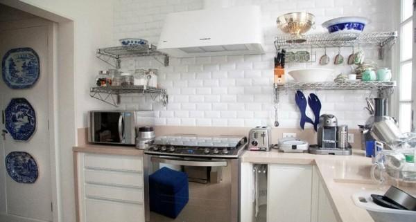 cocina rústica detalles porcelana azul