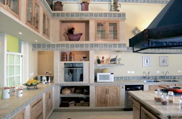 cocina estilo shabby detalles madera