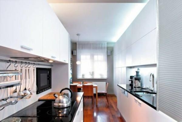 deseños de cocinas suelo parquet madera pulida