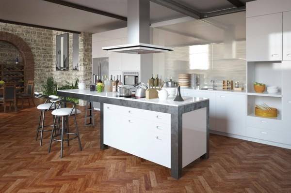 cocina suelo parquet madera zigzag