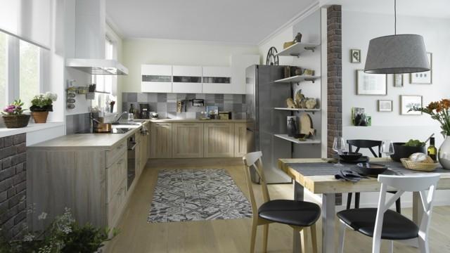 cocina tendencia abierta moderna comedor sillas