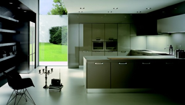 cocina verde negra moderna laminado