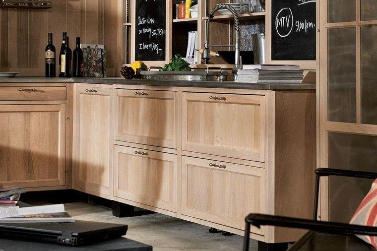 cocinas de diseño armarios madera puertas cristal moderna