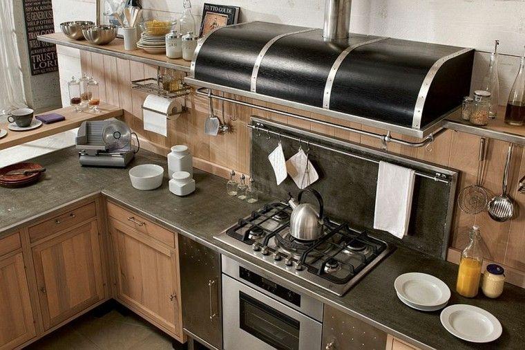cocinas de diseño combinan piedra madera manera ideas original