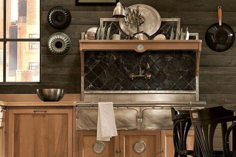 cocinas de diseño elementos estilo vintage grifos antiguos moderno