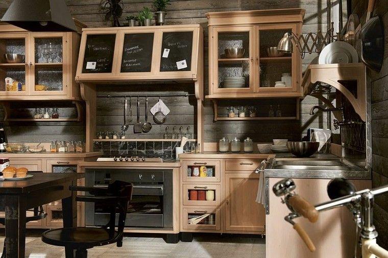 cocinas de diseño estilo moderno tradicional madera