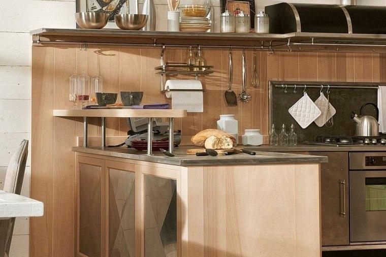 cocinas de diseño muebles madera ideas moderna originales