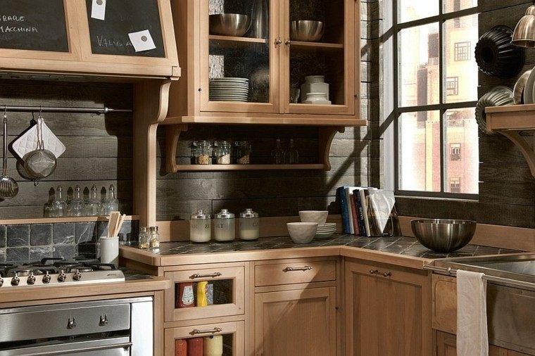 cocinas de diseño pizarra armarios puertas ideas cristal