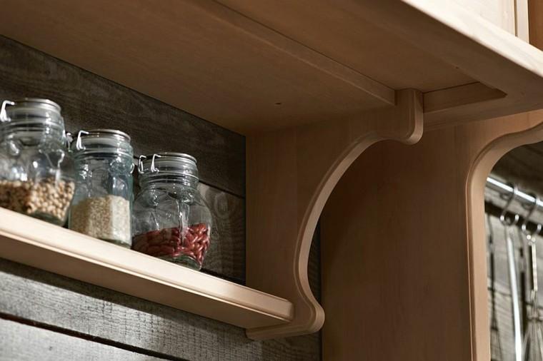 cocinas originales estanterioas madera estilo ideas unico