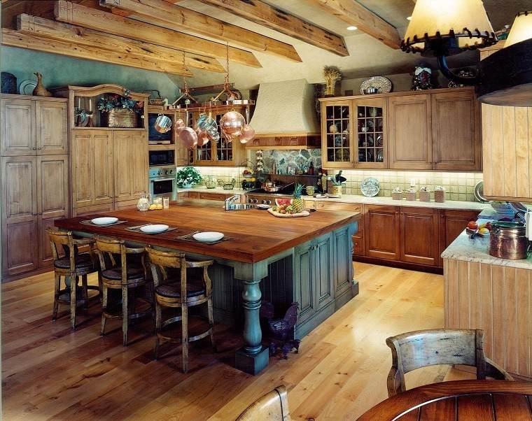 cocinas rusticas muebles madera