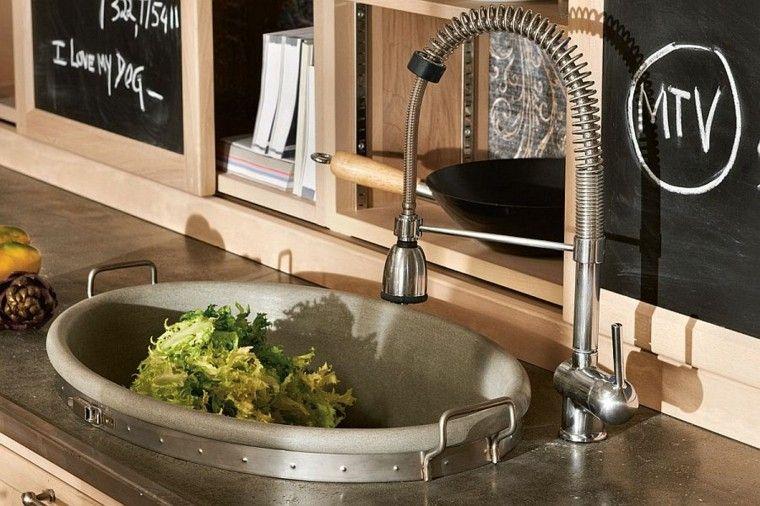 cocinas tradicionales lavabo moderno ideas pizarra