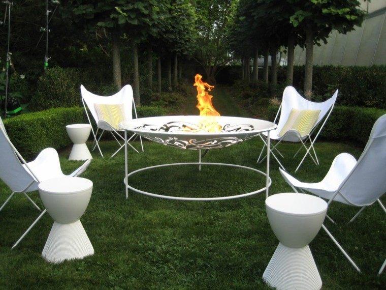 coleccion fuego  estilo ideas blanco moderno