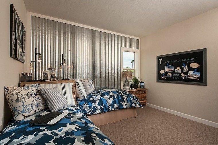 colores beige paredes habitacion chicos moderna