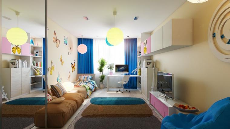 Decoracion infantil para los dormitorios y habitaciones - Colores para habitaciones infantiles ...