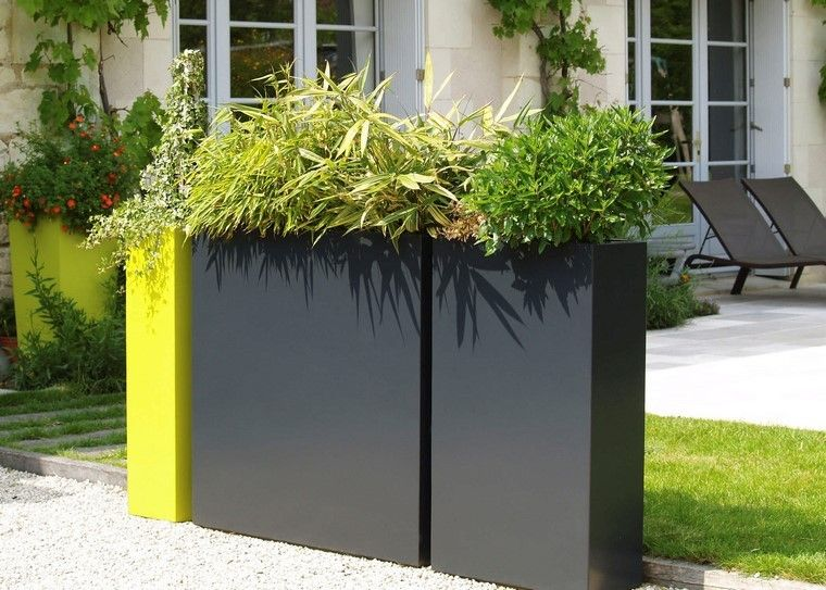 colores jardinera cajas patio altas