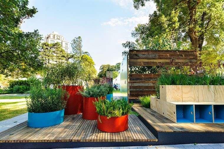 colores jardinera colores madera acero