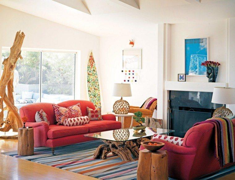 colores vibrantes salon estilo boho ideas original