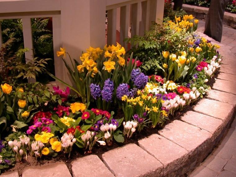 colores y diseño de jardines vivo jardinera amarillo