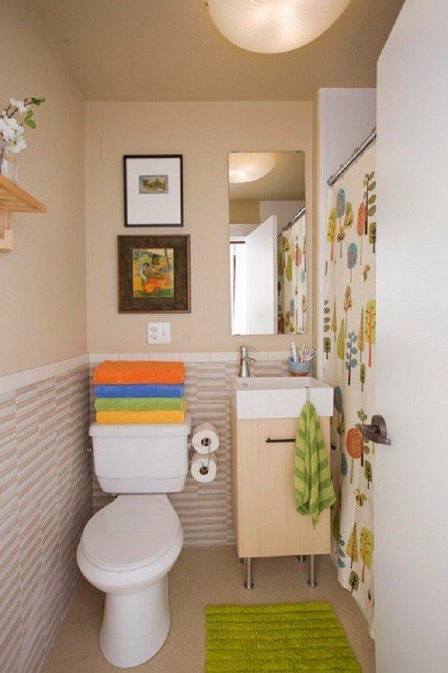 colorido pequeño funcional baño alfombra