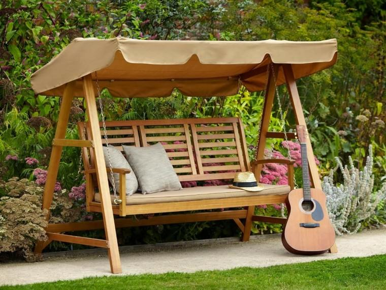 columpio madera jardin ideas descanso relax bonito