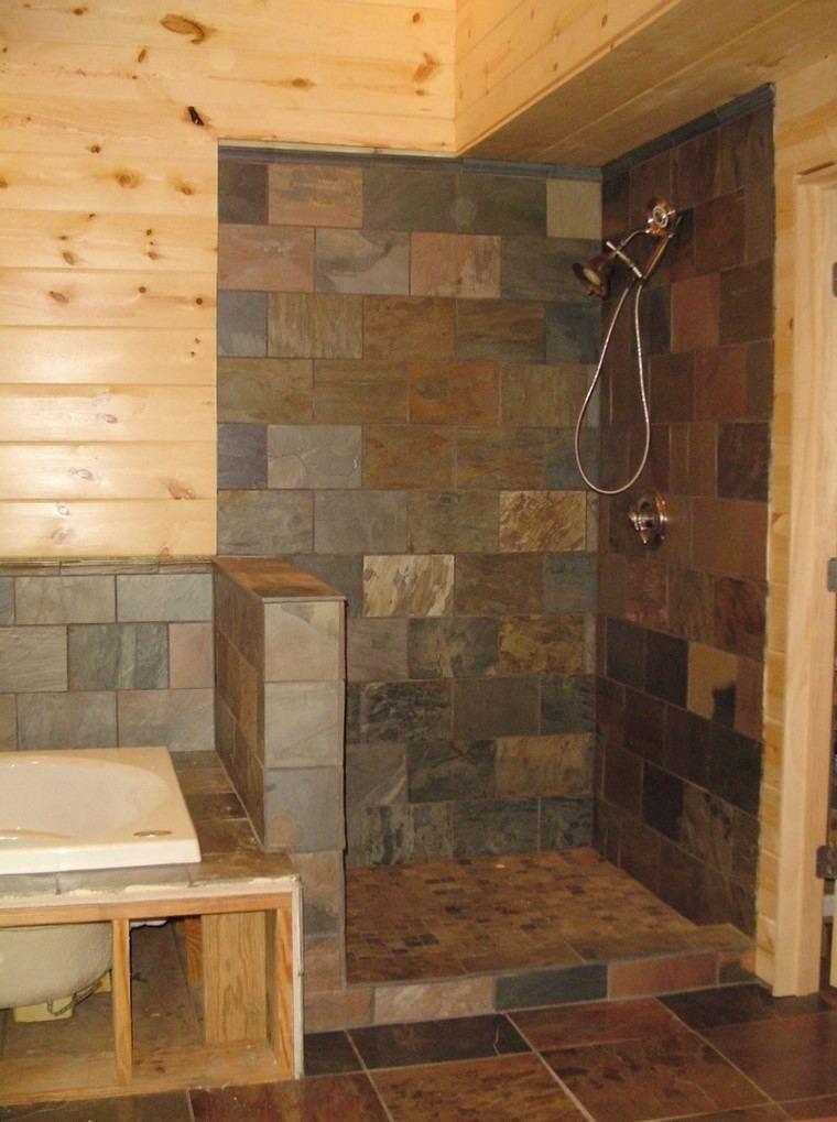 combinacion azulejos madera modernas ideas originales