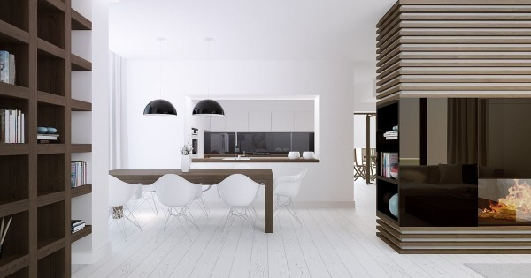 comedor lujoso moderno minimalista blanco