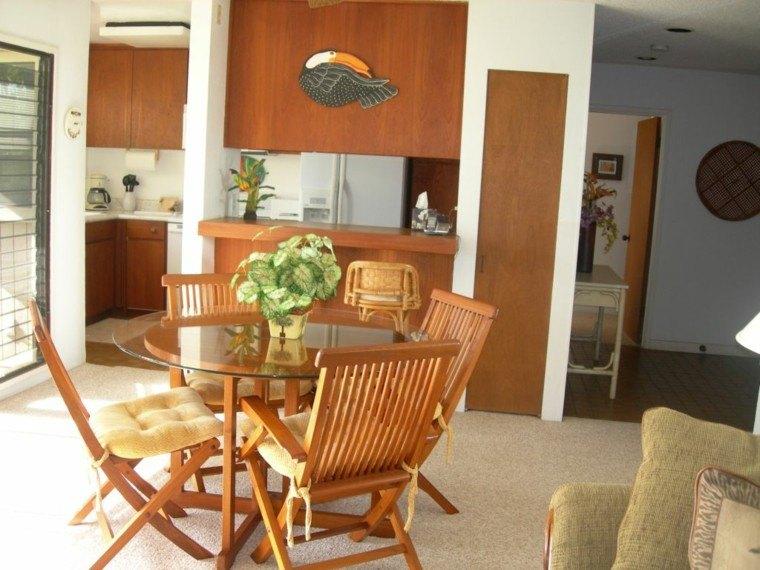 Sillas de madera para comedor modernas great silla madera for Mesas de comedor de vidrio y madera