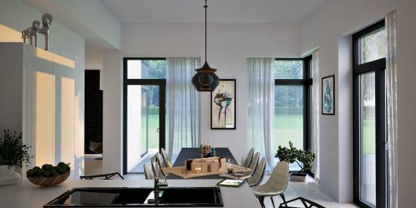 Mesas de cocina o comedor de dise o moderno tendencias for Cortinas comedor baratas