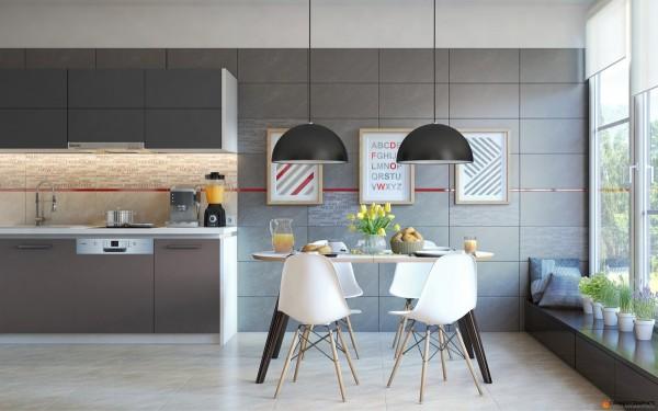Mesas de cocina o comedor de dise o moderno tendencias for Cuadros para cocina originales