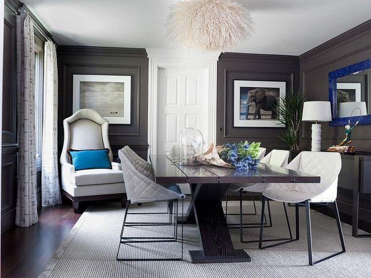 comedores y decoración elegante estilo sillas