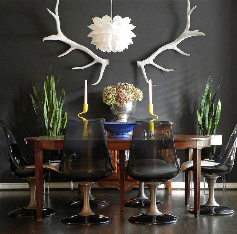 comedores y decoración jarron lampara sillas
