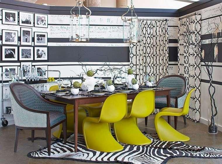 comedores y decoración jarron sillas modernas alfombra