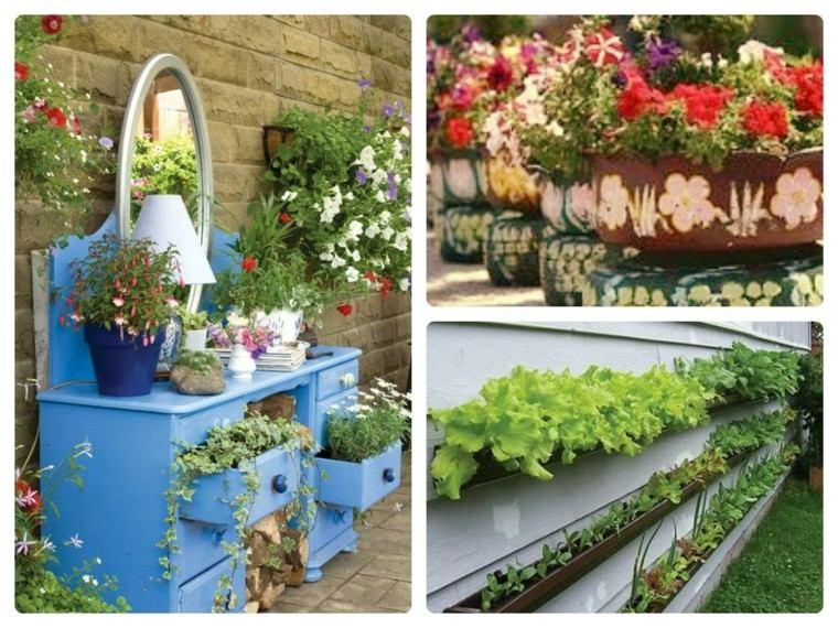 como diseñar un jardin creativo flores muebles