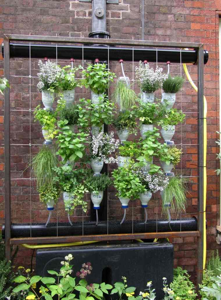 como diseñar un jardin ideas diy vertical