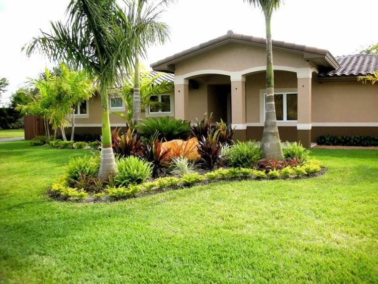 como diseñar un jardin palmeras casa isla