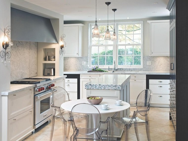 como disenar una cocina blanca moderna estilo moderno